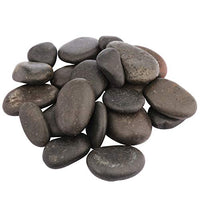 rockcloud 1 lb Natural Black Stone Pebbles Kindness Rocks for Painting, Landscaping, Home Decor, Reiki Crytsal Healing