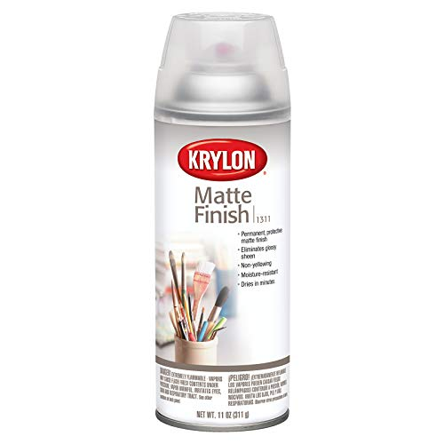 KRYLON DIVERSIFIED BRANDS K01311007 Matte Finish Aerosol Paint 11 oz, Satin
