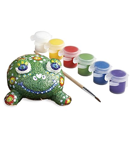 Paint-a-Rock Pet Kits with 6 Weather-Resistant Paints, Paintbrush and Instructions, in Frog