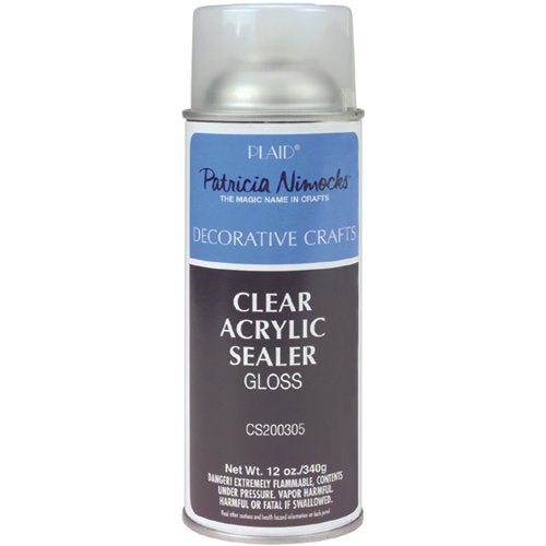 Plaid Patricia Nimocks Clear Acrylic Sealer (12-Ounce), CS200305 Gloss