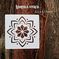 Mandala Stencils Set - 16pcs different style mandala stencil template with 16pcs customized black cardstocks.