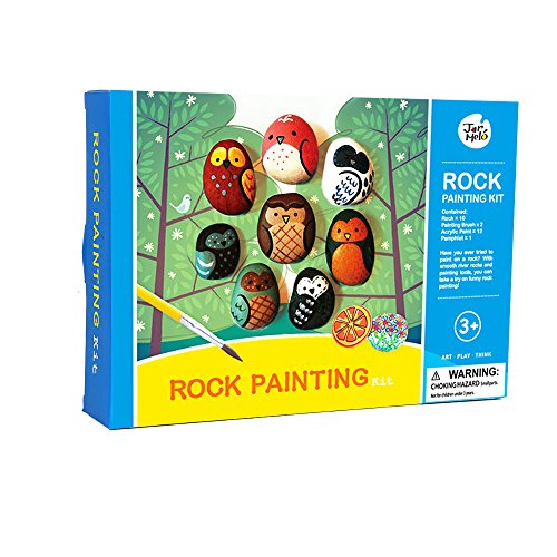 A full-color packed with 10 smooth river stones in assorted sizes and shapes