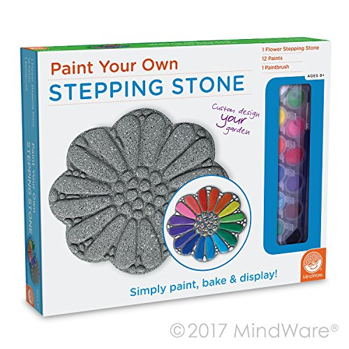 EXPRESS YOUR CREATIVITY: Paint Your Own Stepping Stone from MindWare is ready to paint right out of the box, letting you skip the messy cement-mixing. Simply paint, bake and display!