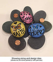 Painting Rocks by BasaltCanvas - Size 1 - Kindness Rocks for Painting - Very Smooth Surface - Easy to Paint - 20 Stones Ranging from 2.0 to 3.0 inches