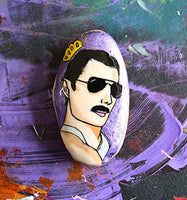 Freddie Mercury Rock Painting