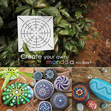 Make Perfect Mandala Artwork - This mandala stencils for painting with 130 x 130 mm (5.1 x 5.1 inches) size.