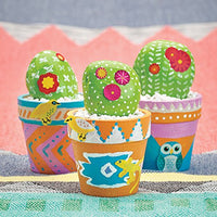 Use paint to transform rocks into cacti