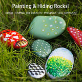 Use the tracking stickers to see where your rocks are hidden!
