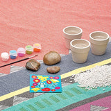 . Includes 3 rocks, 3 flower pots, natural rocks, paint, paint brush and fuzzy stickers