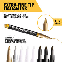 Paint Pens for rock painting and more- Set of 8 Premium Extra Fine Tip Acrylic Paint Markers