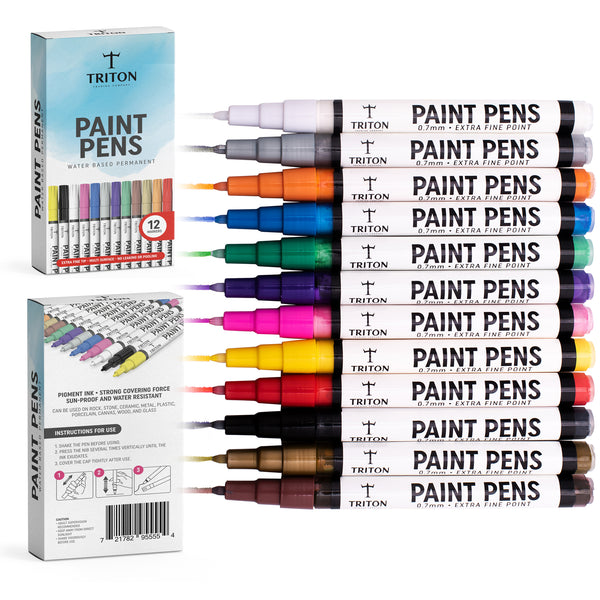 Triton Paint Pens with box front and back