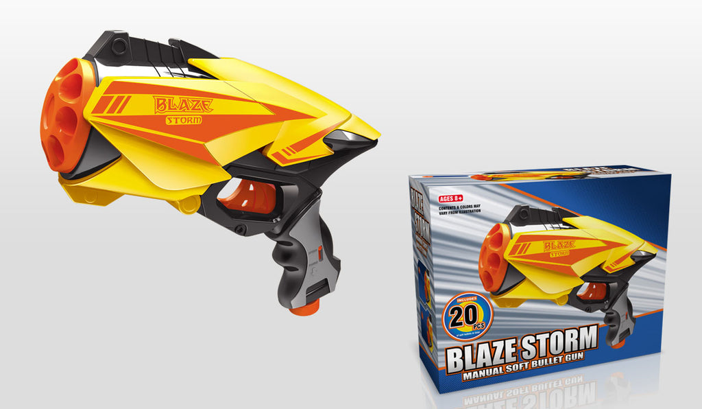 BLAZE STORM Manual Soft Bullet Gun (20 pcs Soft Bullets included)  7039