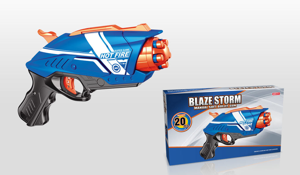 BLAZE STORM Manual Soft Bullet Gun (20 pcs Soft Bullets included)  7063