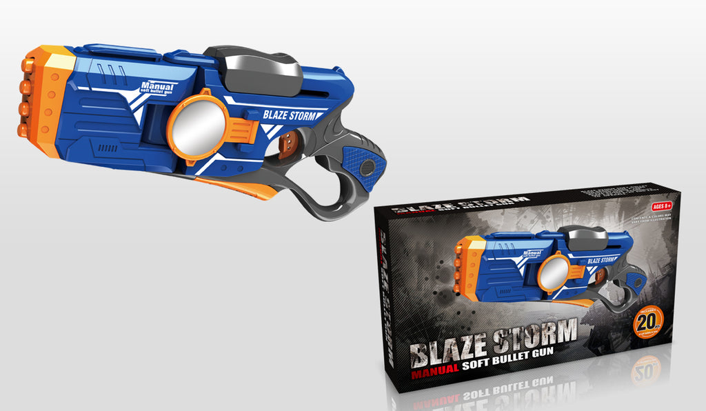 BLAZE STORM Manual Soft Bullet Gun (20 pcs Soft Bullets included)  7086