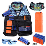 Kids Tactical Vest Kit Compatible with Nerf Guns N-Strike Elite Series for Boys - Hely Cancy via Amazon