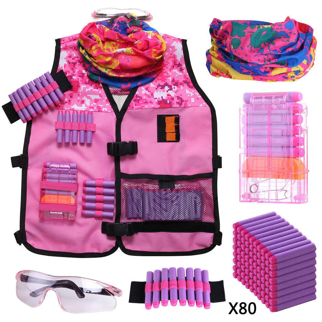 Girls Tactical Vest Kit Compatible with Nerf Guns N-Strike Elite Series - Hely Cancy via Amazon
