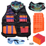 Kids Tactical Vest Kit Compatible with Nerf Guns N-Strike Mega Series - Hely Cancy via Amazon