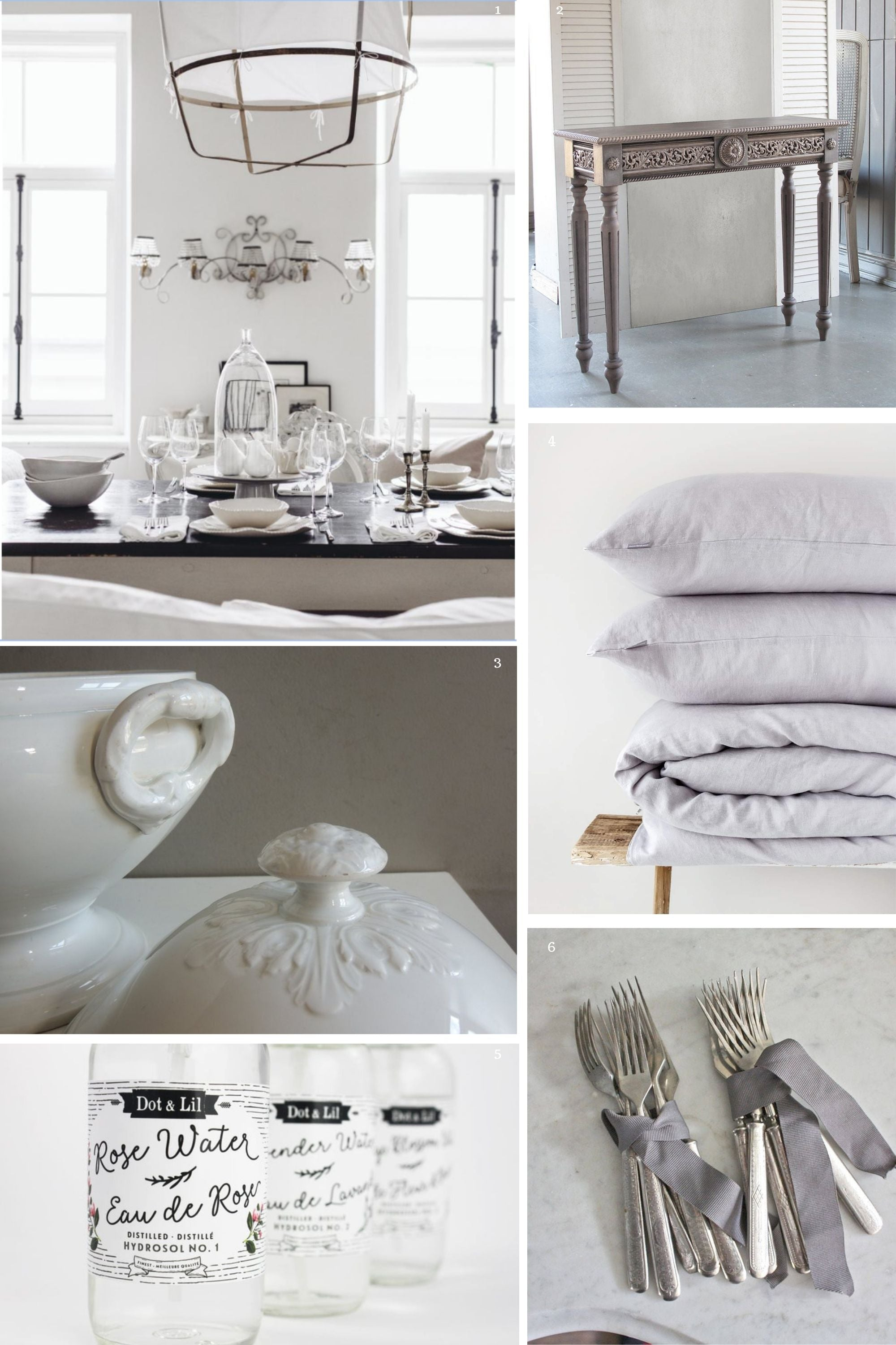Shabby Chic Home Decor Gray