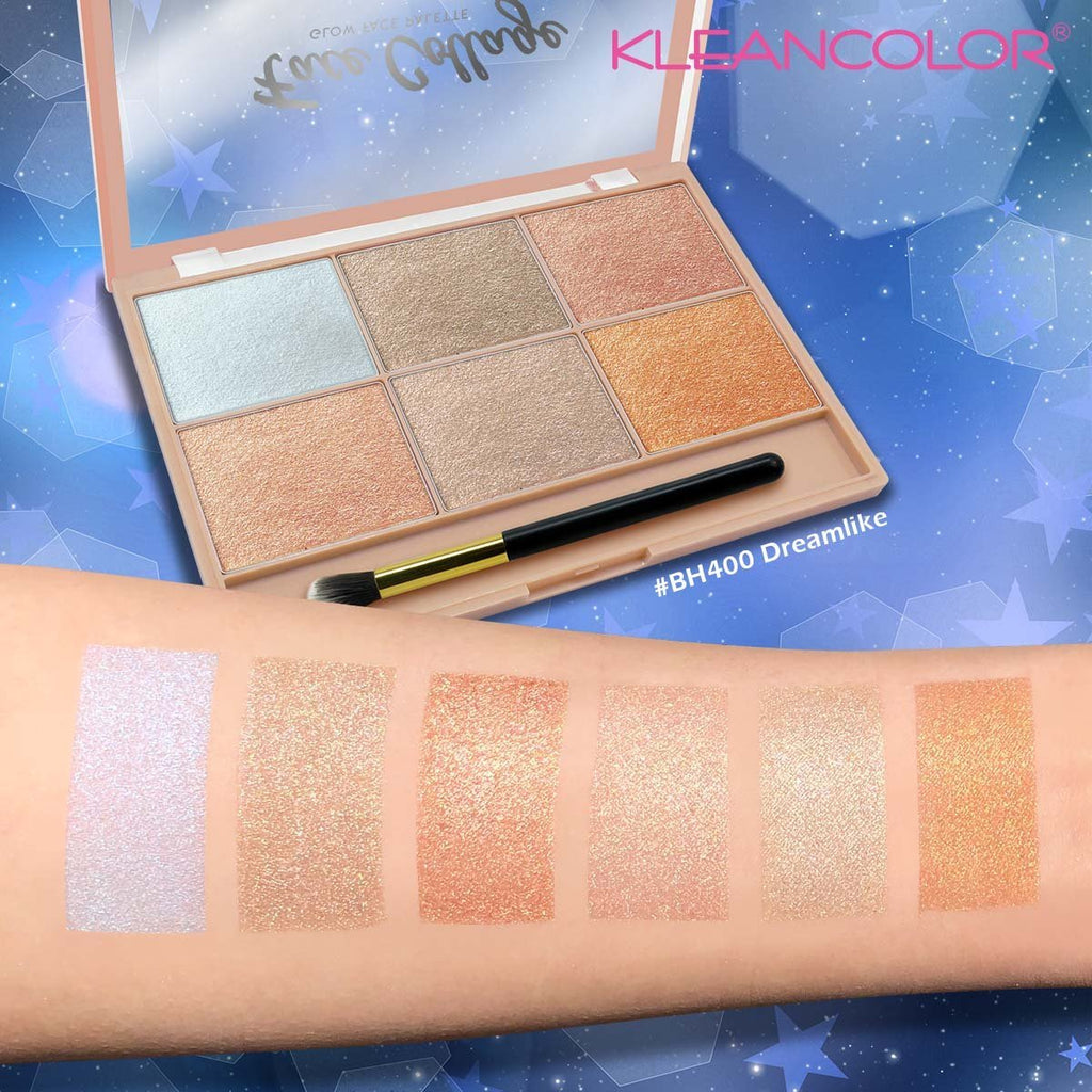 Kleancolor Broke Girl Cosmetics Brow Pomade Face Collage Glow Palette Dreamlike Bh400