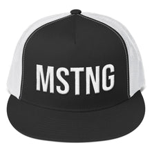 Load image into Gallery viewer, Ford Mustang 'MSTNG' Trucker Hat - Barn Find Apparel