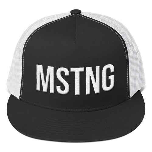 Ford Mustang 'MSTNG' Trucker Hat - Barn Find Apparel