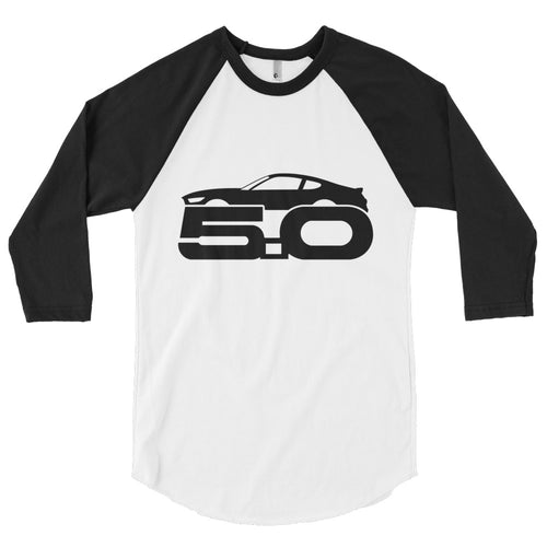 Unisex Ford Mustang 5.0 Baseball T-Shirt - Barn Find Apparel