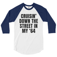 Load image into Gallery viewer, Unisex Cruisin' In My '64 Baseball T-Shirt - Barn Find Apparel