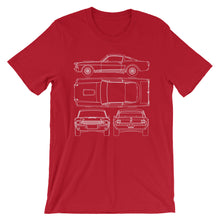 Load image into Gallery viewer, Unisex Shelby G.T.350R Blueprint T-Shirt - Barn Find Apparel