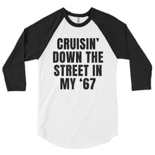 Load image into Gallery viewer, Unisex Cruisin' In My '67 Baseball T-Shirt - Barn Find Apparel