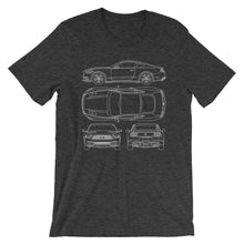Load image into Gallery viewer, Unisex Ford Mustang GT Blueprint T-Shirt - Barn Find Apparel