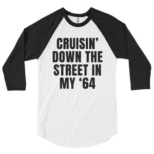 Unisex Cruisin' In My '64 Baseball T-Shirt - Barn Find Apparel