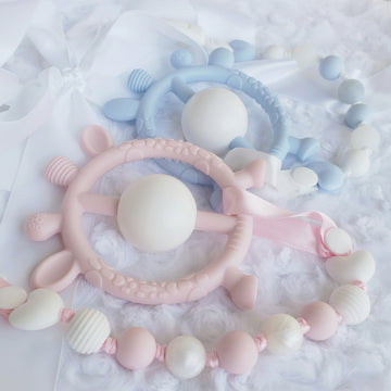 Teething Rattle Ring & Teething Clip