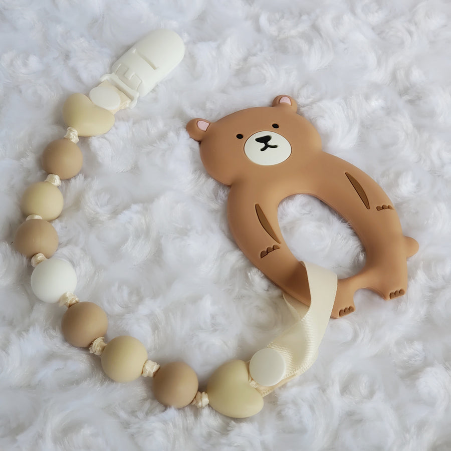 Baby Bear Teether & Teething Clip