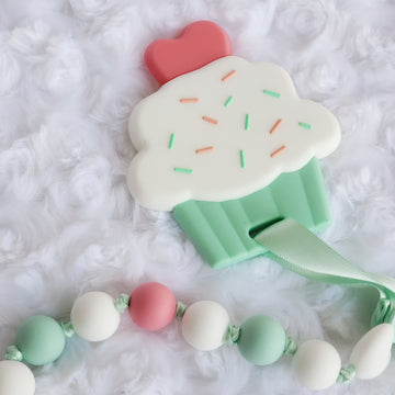 My Cupcake Teether & Teething Clip