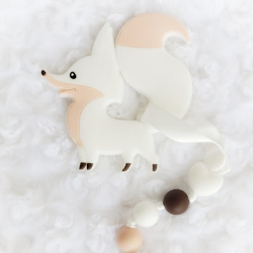 Cute Fox Teether & Teething Clip