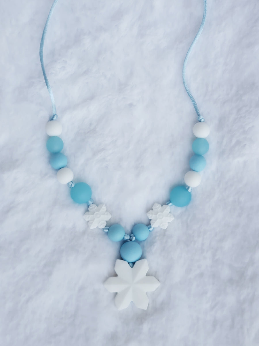 Girls Frozen Necklace - White Matte