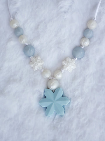 Girl's Frozen Necklace - Blue Matte
