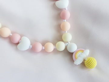 Girls Pretty Rainbow Necklace