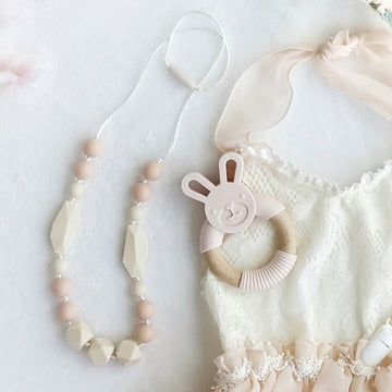 The Hexagon Ivory & Blush Necklace for Mothers