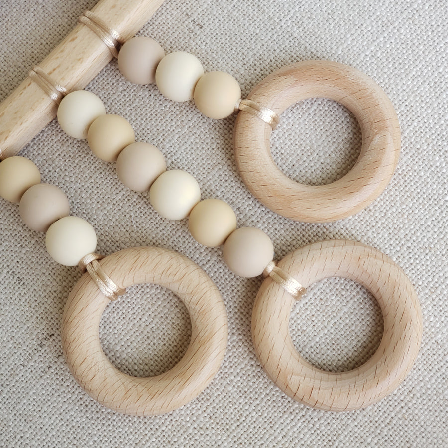 The Perfectly Neutral Cloud Rain Shower Teething Rattle