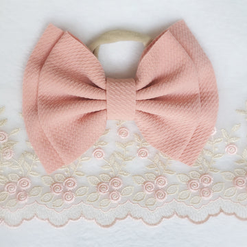 Double Layer Peachy-Pink Headband