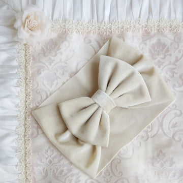 Luxuriously Soft Velvet Bow Headwrap