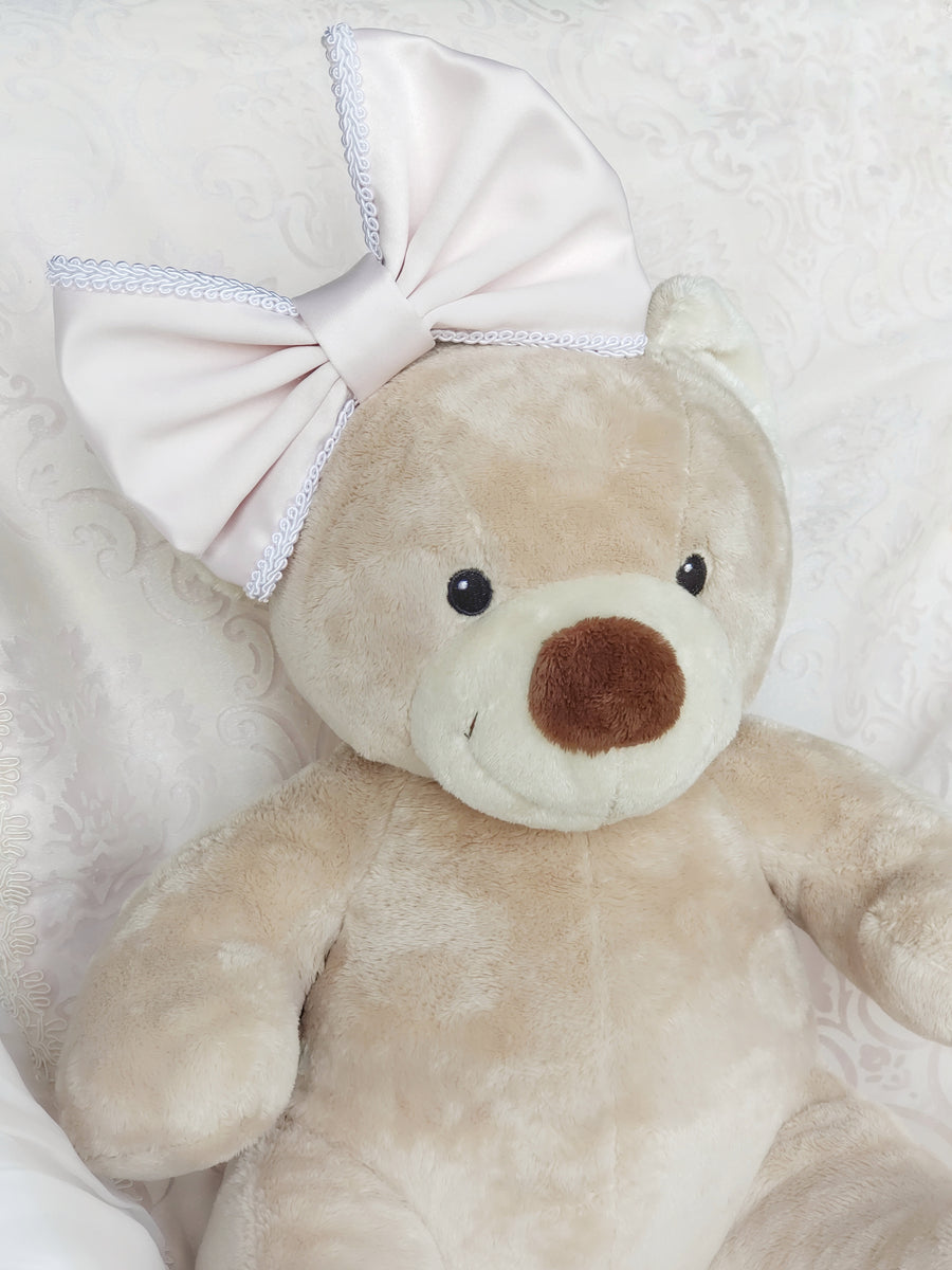Luxurious Superior Satin Bow in Blush