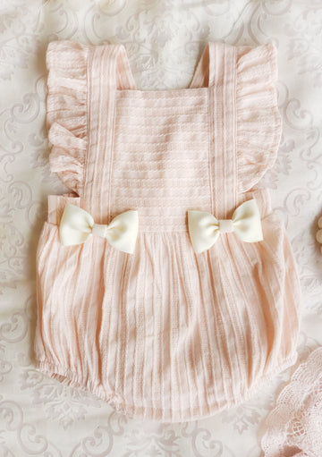 Sophia Summer Dreams Cotton Bow Romper & Headband