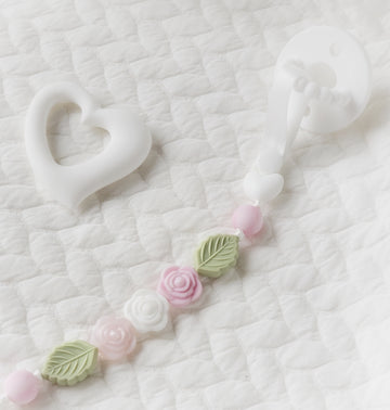 My Darling Rose Bouquet Teething Clip