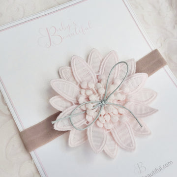 Embroidered Summer Bloom Baby Headband