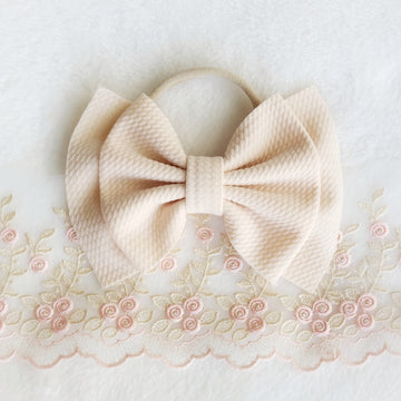 Double Layer Light Blush Headband