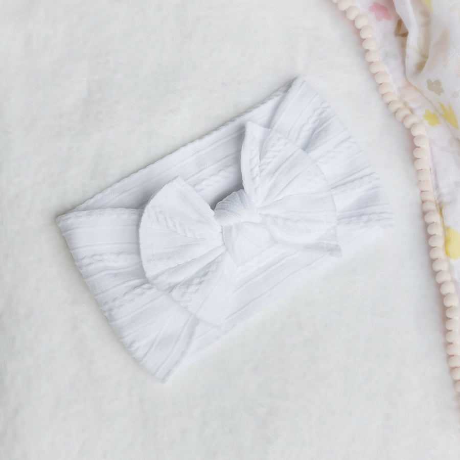 The Silky Soft Cable Baby Bow Summer Headbands