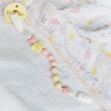 The Pretty Butterfly Pacifier Teether Clip