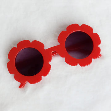 Baby Flower Sunglasses - Red